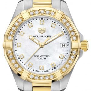 Tag Heuer Aquaracer Lady Wbd1323.Bb0320 Kello Valkoinen / 18k