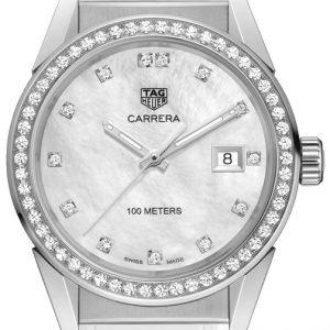 Tag Heuer Carrera Lady Wbg1315.Fc6412 Kello Hopea / Kumi