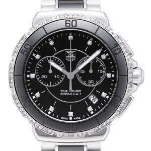 Tag Heuer Formula 1 Steel And Ceramic Chronograph Diamonds Cah1212.Ba0862 Kello