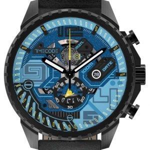 Timecode Atom Tc-1013-01 Kello Sininen / Nahka