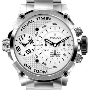 Timecode Tc-1003-02 Kello Valkoinen / Teräs