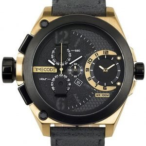 Timecode Tc-1016-01 Kello Musta / Nahka