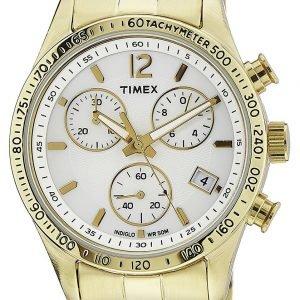 Timex Ameritus T2p058 Kello Valkoinen / Kullansävytetty Teräs