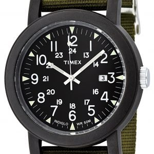 Timex Camper T2n363 Kello Musta / Tekstiili