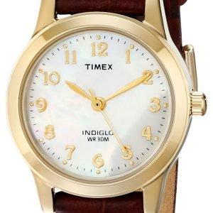 Timex Classic Elevated T21693 Kello Valkoinen / Nahka