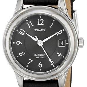 Timex Classic Elevated T29291 Kello Musta / Nahka