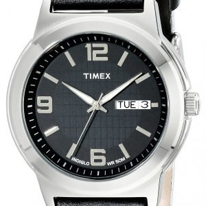 Timex Classic Elevated T2e561 Kello Musta / Nahka