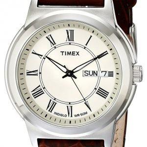 Timex Classic Elevated T2e581 Kello Beige / Nahka