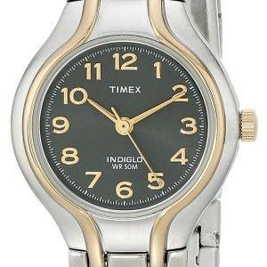 Timex Classic Elevated T2k951 Kello Musta / Kullansävytetty