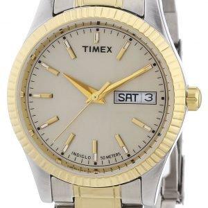 Timex Classic Elevated T2m556 Kello Hopea / Kullansävytetty