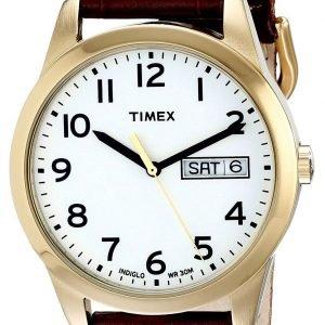 Timex Classic Elevated T2n065 Kello Valkoinen / Nahka