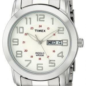 Timex Classic Elevated T2n437 Kello Valkoinen / Teräs