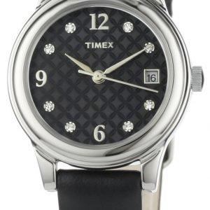 Timex Classic Elevated T2n450 Kello Musta / Nahka