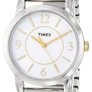 Timex Classic Elevated T2n844 Kello Valkoinen / Teräs