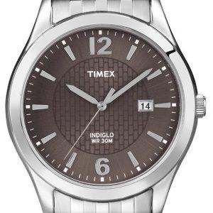 Timex Classic Elevated T2n848 Kello Ruskea / Teräs