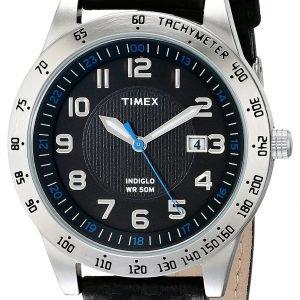 Timex Classic Elevated T2n920 Kello Musta / Nahka