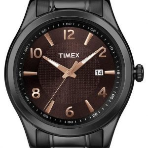 Timex Classic Elevated T2n939 Kello Ruskea / Teräs