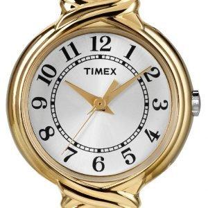 Timex Classic Elevated T2n979 Kello Hopea / Kullansävytetty