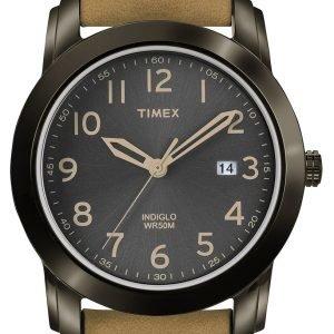 Timex Classic Elevated T2p133 Kello Musta / Nahka