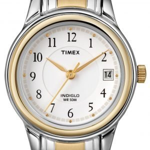 Timex Classic T25771 Kello Valkoinen / Kullansävytetty Teräs