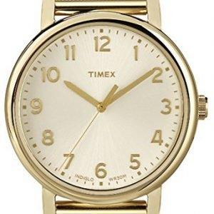 Timex Classic T2n598 Kello Samppanja / Kullansävytetty Teräs