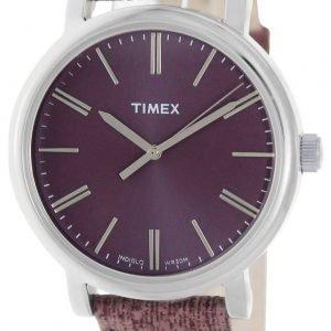 Timex Classic T2p172 Kello Violetti / Nahka