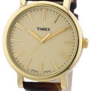 Timex Classic T2p237 Kello Beige / Nahka