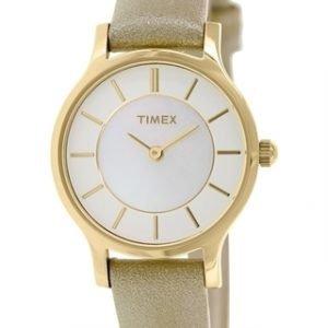 Timex Classic T2p313 Kello Valkoinen / Nahka
