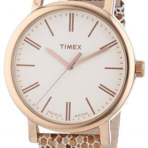 Timex Classic T2p325 Kello Valkoinen / Nahka