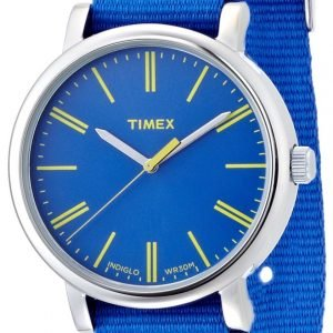 Timex Classic T2p362 Kello Sininen / Tekstiili