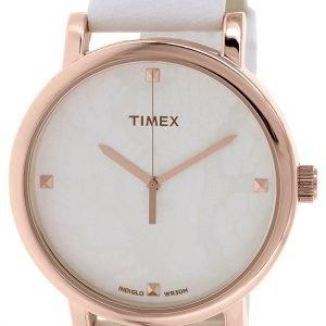 Timex Classic T2p460 Kello Valkoinen / Nahka