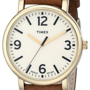 Timex Classic T2p527ab Kello Beige / Nahka
