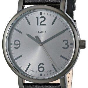 Timex Classic T2p528ab Kello Harmaa / Nahka