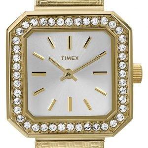 Timex Classic T2p550 Kello Valkoinen / Kullansävytetty Teräs