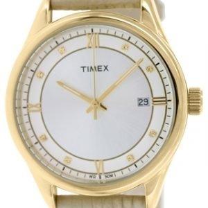 Timex Classic T2p556 Kello Hopea / Nahka