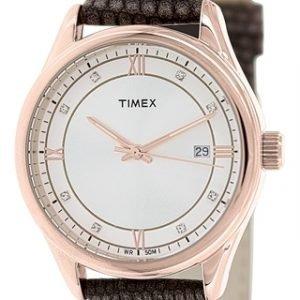 Timex Classic T2p558 Kello Hopea / Nahka
