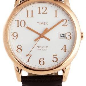 Timex Classic T2p563 Kello Valkoinen / Nahka