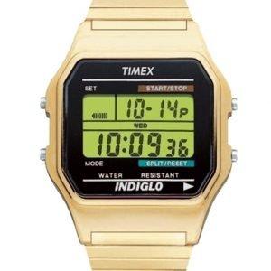 Timex Classic T78677 Kello Lcd / Kullansävytetty Teräs