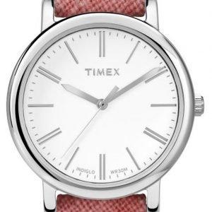 Timex Classic Tw2p63600 Kello Valkoinen / Nahka