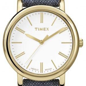 Timex Classic Tw2p63800 Kello Valkoinen / Tekstiili