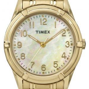 Timex Classic Tw2p78300 Kello Valkoinen / Kullansävytetty