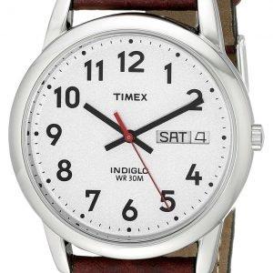 Timex Easy Reader T20041 Kello Hopea / Nahka