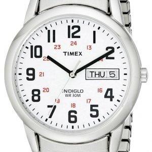 Timex Easy Reader T20461 Kello Valkoinen / Teräs