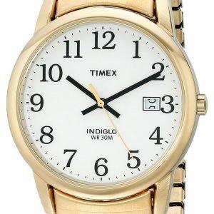 Timex Easy Reader T2h301 Kello Valkoinen / Kullansävytetty