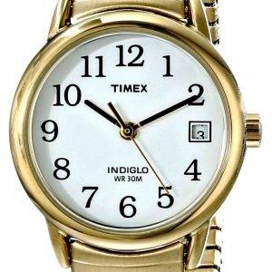 Timex Easy Reader T2h351 Kello Valkoinen / Kullansävytetty