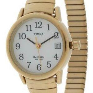 Timex Easy Reader T2h351pk Kello Valkoinen / Kullansävytetty