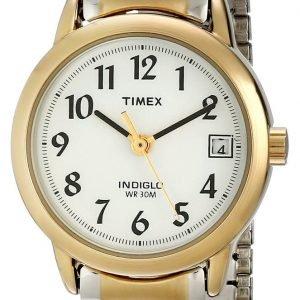 Timex Easy Reader T2h491 Kello Valkoinen / Kullansävytetty