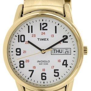 Timex Easy Reader T2n092 Kello Valkoinen / Kullansävytetty