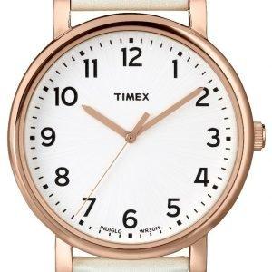 Timex Easy Reader T2n341 Kello Valkoinen / Nahka