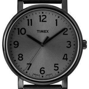 Timex Easy Reader T2n346 Kello Musta / Nahka